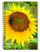 Sunflower And Visitors Spiral Notebook