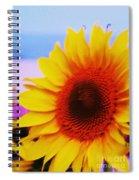 Sunflower At Beach Spiral Notebook