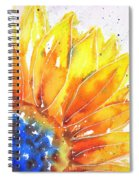 Sunflower Blue Orange And Yellow Spiral Notebook