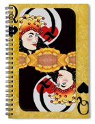 Sunflower Card Yellow Spiral Notebook