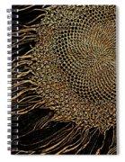 Sunflower Gold Leaf Sketch Spiral Notebook