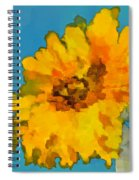 Sunflower Illusion Spiral Notebook