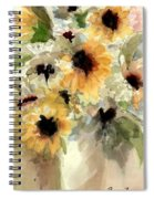 Sunflower Impressions Spiral Notebook