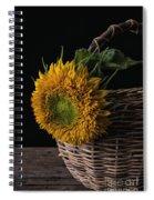Sunflower In A Basket Spiral Notebook