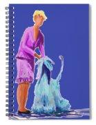 Sunflower In Blue Spiral Notebook
