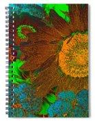 Sunflower In Brown Spiral Notebook