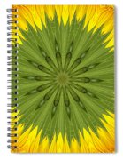 Sunflower Kaleidoscope 3 Spiral Notebook