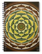 Sunflower Mandala Spiral Notebook