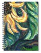 Sunflower One Panel Four Of Four Spiral Notebook