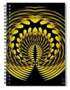 Sunflower Polar Coordinate Effect 1 Spiral Notebook