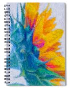 Sunflower Profile Impressionism Spiral Notebook