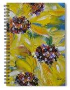 Sunflower Quartet Spiral Notebook