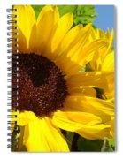 Sunflower Summer Garden Art Prints Spiral Notebook