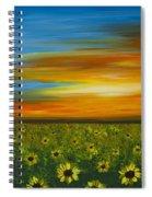 Sunflower Sunset - Flower Art By Sharon Cummings Spiral Notebook