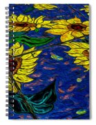 Sunflower Tiled Oil Painting Spiral Notebook