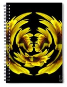 Sunflower With Warp And Polar Coordinates Effects Spiral Notebook