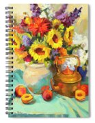 Sunflowers And Copper Spiral Notebook