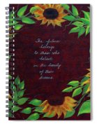 Sunflowers And Dreams Spiral Notebook