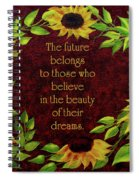 Sunflowers And Future Poem Spiral Notebook