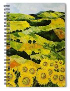 Sunflowers And Sunshine Spiral Notebook