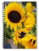 Sunflowers At Market Spiral Notebook