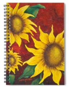 Sunflowers At Sunset Spiral Notebook