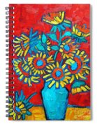 Sunflowers Bouquet Spiral Notebook