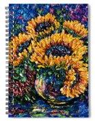 Sunflowers Bouquet In Vase Spiral Notebook