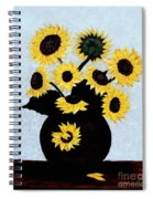 Sunflowers Expressive Brushstrokes Spiral Notebook