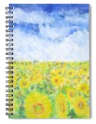 Sunflowers In A Field In  Texas Spiral Notebook