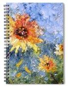 Sunflowers In Bloom Spiral Notebook