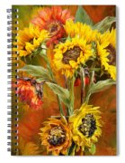 Sunflowers In Sunflower Vase - Square Spiral Notebook