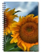 Sunflowers In The Wind Spiral Notebook