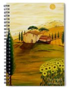 Sunflowers In Tuscany Spiral Notebook