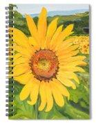 Sunflowers - Red Barn - Pennsylvania Spiral Notebook