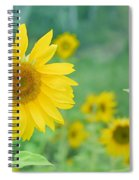 Sunflowers Vintage Dreams Spiral Notebook