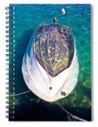 Sunken Motor Boat After Storm Spiral Notebook