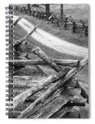 Sunken Road - Bw Spiral Notebook