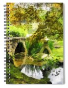 Sunlit Bridge In Park Spiral Notebook