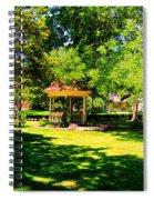 Sunlit Gazebo Spiral Notebook