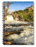 Sunlit Rapids In Glacier Spiral Notebook