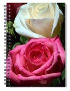 Sunlit Roses Spiral Notebook