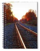 Sunlit Tracks Spiral Notebook
