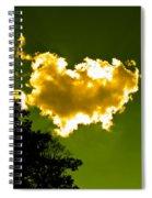 Sunlit Yellow Cloud Spiral Notebook