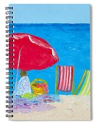 Sunny Afternoon At The Beach Spiral Notebook