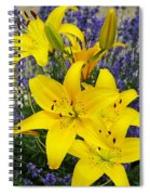 Sunny Asiatics With Lavender Spiral Notebook