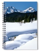 Sunny January Day Sawtooth Mountains Spiral Notebook