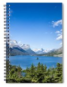 Sunny Saint Mary Lake Spiral Notebook