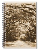 Sunny Southern Day With Old World Framing Spiral Notebook