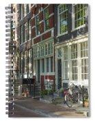Sunny Street In Amsterdam Spiral Notebook